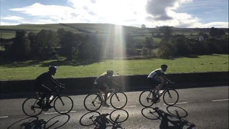Katie Strickland, Jonathan Spowart and James Woodwark set out on a 500-mile cycle to Snowden to rais