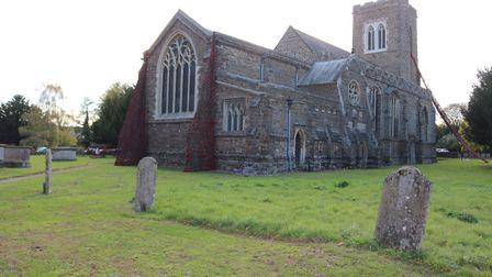 St Mary Virgin Church in Northill marks 100 years since the end of the First World War with giant po