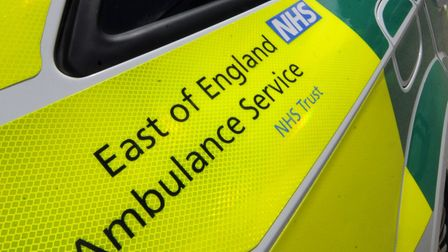 There has been a collision between a car and a person outside Giles Infants' School in Stevenage