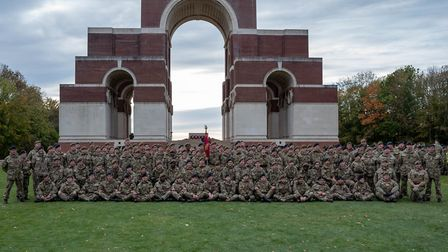 Bedfordshire and Hertfordshire Army Cadet Force pictured here at Thiepval war memorial Picture: Lt
