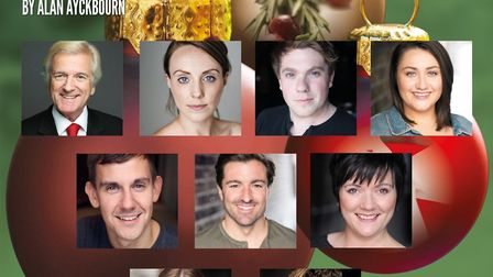 The cast of Season's Greetings at the Gordon Craig Theatre in Stevenage