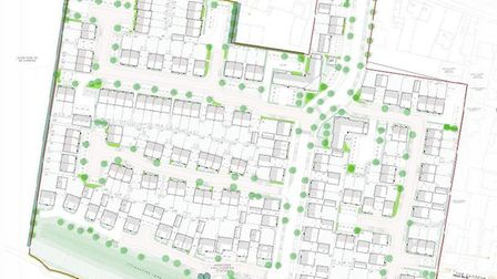 Plans for the aaproved housing development in Arlesey Road, Stotfold. Picture: Central Bedfordshire