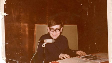 This photograph of Elton John - then Reg Dwight - was taken by Letchworth muscian Len Crawley, and i