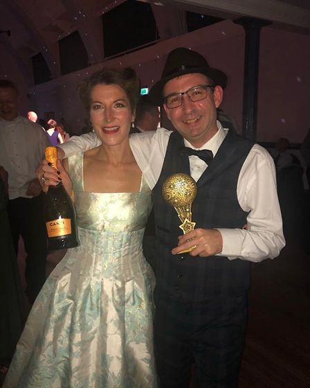 Hitchin author Zoe Folbigg and Jason Wood were crowned the winners of the first Hitchin Come Dancing