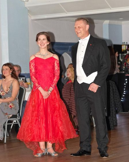 Headteacher at the Priory School in Hitchin with his dance partner Jenny Durdey. Picture: Geoff Ide