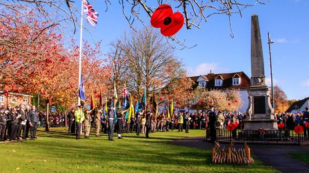 Stevenage's Remembrance Sunday service in the Old Town. Picture: Gary Wilkins