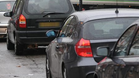 There's heavy traffic on the A602 this evening. Picture: Archant