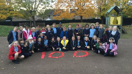 Pupils at Woolenwick Infant and Nursery School took part in a number of remembrance events. Picture