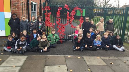 Pupils at Woolenwick Infant and Nursery School marked the centenary of the end of World War I. Pictu