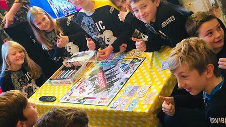 Children from Robert Bloomfield Academy raised £1,900 for Children in Need throught their 24 hour ga