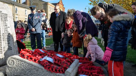 Biggleswade Remembrance Day 2018. Picture: GUY WILLS
