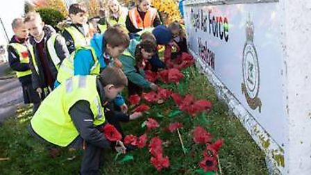 Students from Derwent Lower School visited the RAF base in Henlow as part of Remembrance. Picture: J