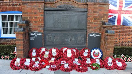 Wreaths were laid in memory of Baldock fallen soldiers. Picture: Jenny Thomas