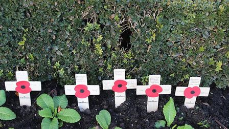 Baldock residents marked the 100th anniversary of the First World War armistice. Picture: Jenny Thom