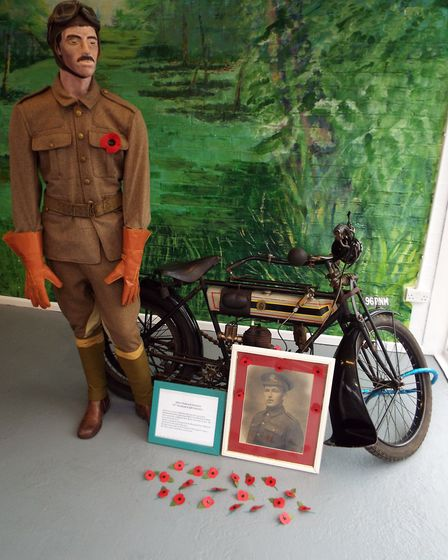 Jeff Jackson's tribute to his grandfather Albert, who died in World War I. Picture courtesy of Janet