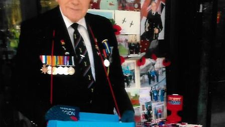 Brian Kemp has been a Poppy Appeal volunteer for 30 years. Picture courtesy of Brian Kemp.
