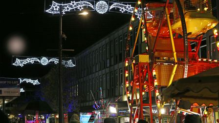 The Stevenage Christmas Light switch on. Picture: Danny Loo