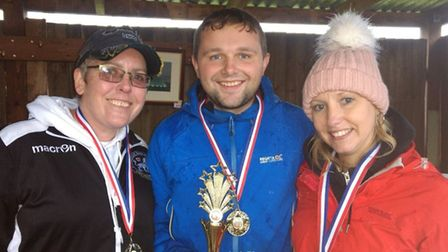 Winners Syri Noble, Jack Blows and Sarah Huntley. Picture courtesy of Paolo Infantino.