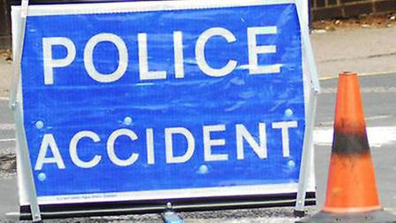 Police have been called to a crash between a a Porsche and a Renault in Stevenage this morning