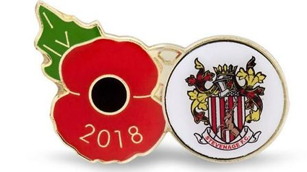 Stevenage FC has teamed up with the Royal British Legion to produce a poppy pin in memory of the men