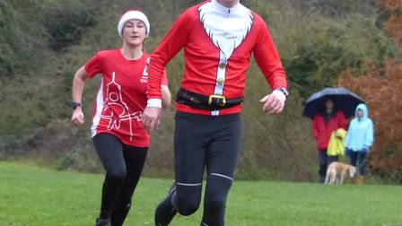 Runners in action at the 2018 Santa Canta 5k. Picture: James Walsh