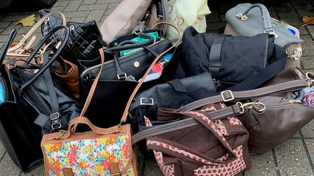Some of the bags Hannah has received for 'Love in a Bag Biggleswade'. Picture: Hannah Brown