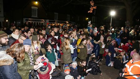 The Stevenage Old Town Christmas lights switch on event. Picture: DANNY LOO