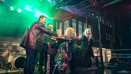 The big switch-on was followed by a finale of fireworks. Picture: Remi Benson