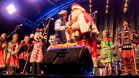 Switching on the lights. Picture Gary Walker