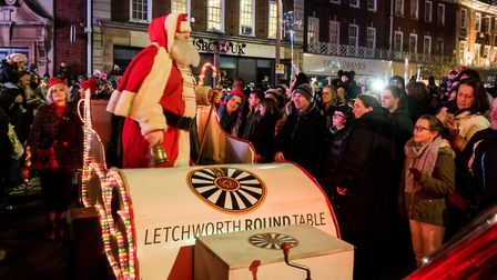Santa meets the crowds. Picture Gary Walker