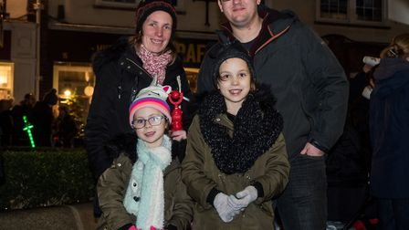 Family waiting for the parade to start. Picture Gary Walker
