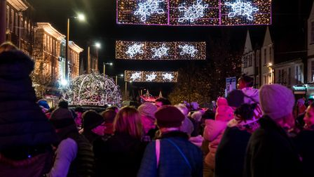 Crowds and the Christmas lights. Picture Gary Walker