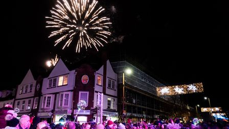 Fireworks and the Christmas lights. Picture Gary Walker