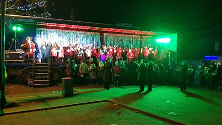 Hundreds turned out for the festive entertainment at Christmas lights switch-on in Biggleswade on Fr