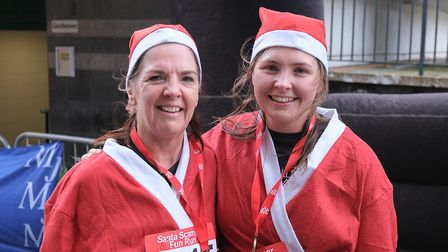 Santas scampered around Stevenage town centre yesterday to raise money for Garden House Hospice Care