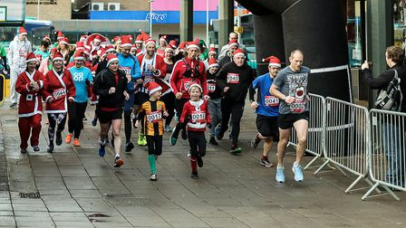 Around 70 runners turned out for the first fun run event to be held in the town centre. Picture: Ter