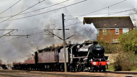 The Cathedrals Express was hauled into Stevenage by LMS Class 5MT 4-6-0 no 44871. Picture: Rich Gold