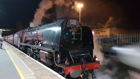Stevenage's Jim Brown captured the Lindum Fayre's stop off at the station on its way back to London,