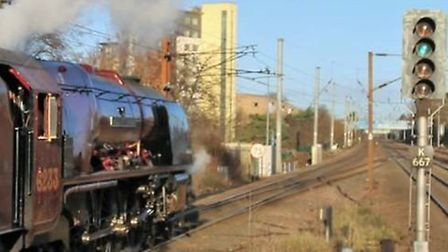 LMS Coronation Class 8P 4-6-2 no 46233 Duchess of Sutherland pulled The Lindum Fayre. Picture: Rich