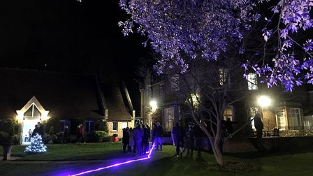 Guests remembered loved ones with a special Lights of Love event at Sue Ryder St John's Hopice. Pict