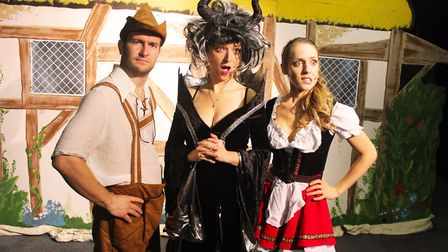 Adult Panto cast members Nick Hooton, Lauren Osborn and Pippa Johnson are about to start their epic