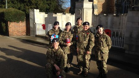 Hitchin Army Cadets raised £1,940 for the Poppy Appeal. Picture: Robin Steel