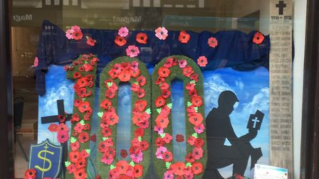 Hitchin businesses supported the Poppy Appeal, contributing to the £35,000 total. Picture: Robin Ste