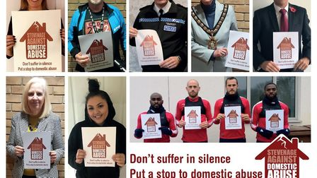 Some of Stevenage Against Domestic Abuse's many supporters. Picture: Stevenage Borough Council