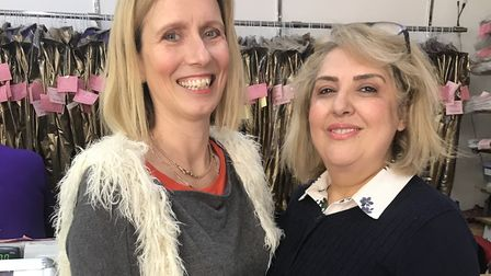 Kate Griffiths and Fairy Shahiri have organised a fashion-themed fundraiser in Hitchin in aid of Col