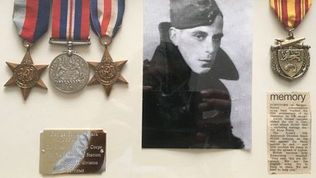 George Clark earned his medals by serving right through teh Second World War.