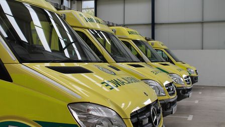 An ambulance attended the incident in Takeley this morning. Picture: ARCHANT