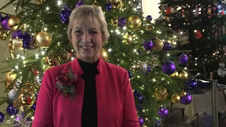 Pam Rhodes from BBC's Songs of Praise attended the Hitchin Christmas Tree Festival. Picture: Clare F