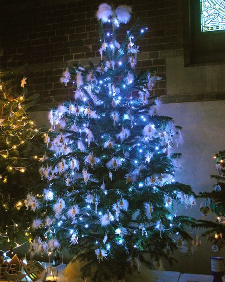 The tree decorated by Highbury Infact School students was voted most popular by guests. Picture: Cla