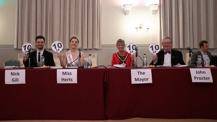 The Strictly Come Jive & Swing judges (left to right): Comet & Royston Crow editor Nick Gill, Miss H